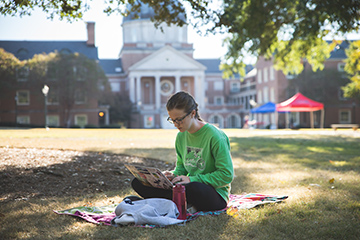 study time on the quad