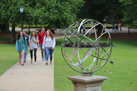 armillary sphere and students cta