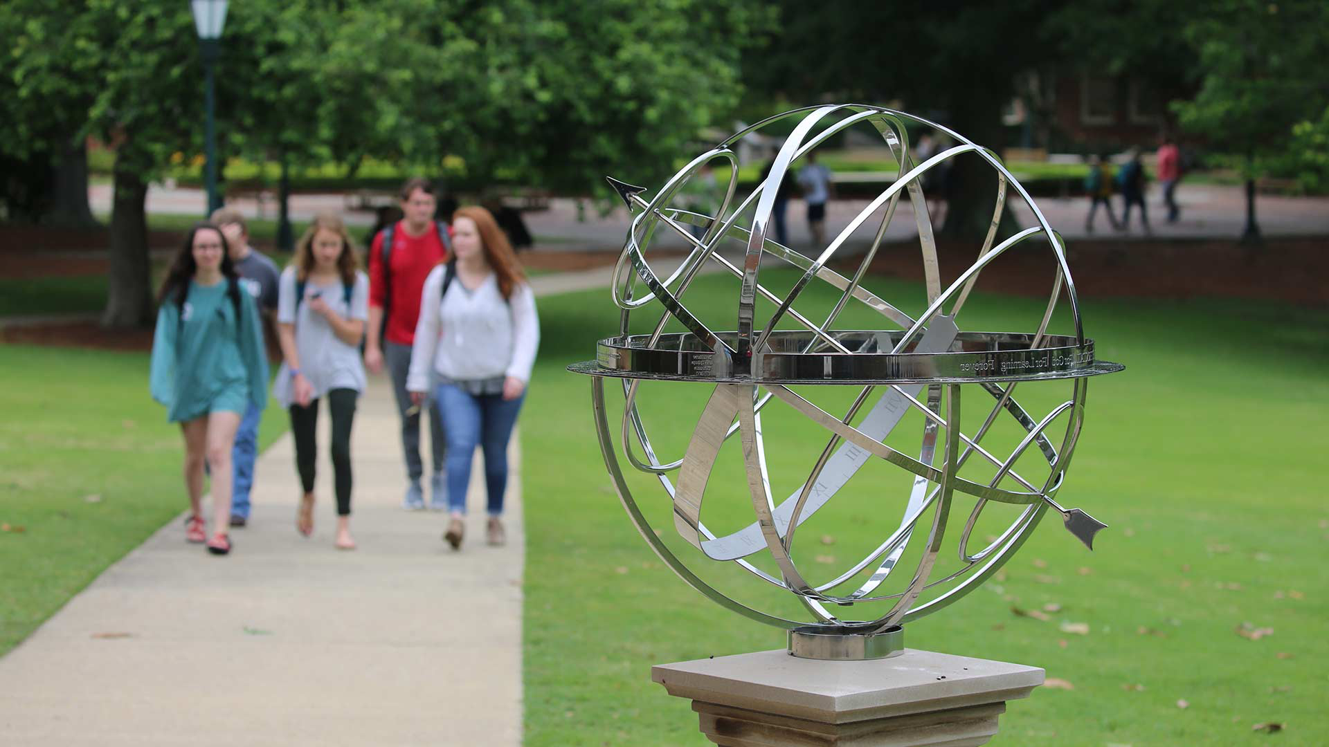 armillary sphere and students